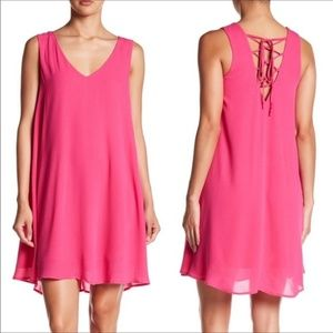 NWT Chelsea28 Pink Lace-Up Back Dress XS